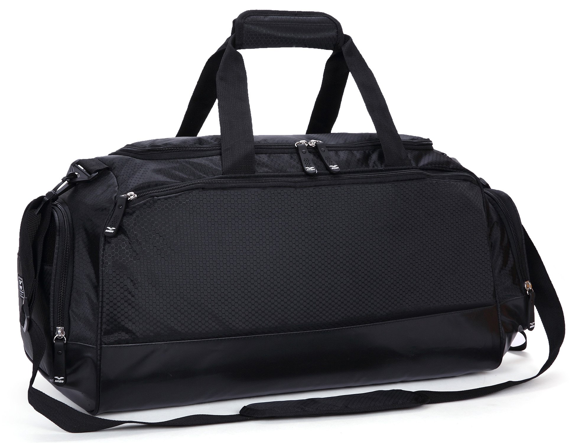 Galleon - MIER Gym Bag With Shoe Compartment Men Travel Sports Duffel, 24  Inch, Black 0dd182fbb4
