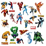 Marvel Heroes Comic - Spider-man, Captain America, Hulk, Fantastic 4, Thing, Thor, Wolverine, Ironman, Ghost Rider Wall…