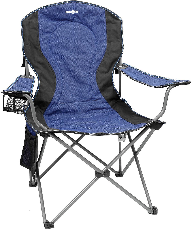 Brunner Campingartikel Stuhl Sessel Komfort (schwarz/blau)