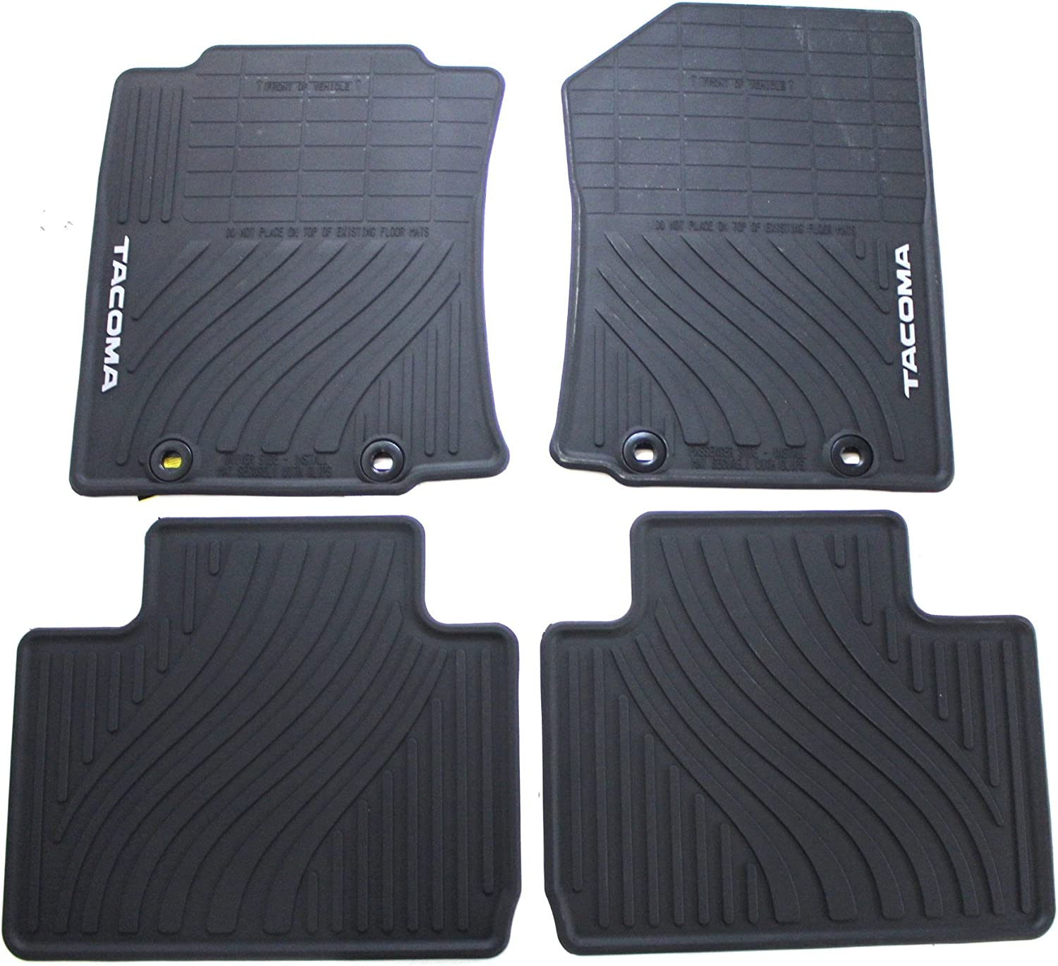 Set of 2 Genuine Toyota Accessories PT908-35120-20 Front and Rear All-Weather Floor Mat Black