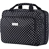 Hanging Toiletry Travel Bag for Women by SAFARI - Large Waterproof Cosmetic Organizer Kit with Clear Compartments - TSA Appro