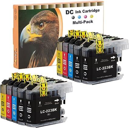 D C 10 Set Druckerpatronen Tintenpatrone Komp Für Brother Lc 221 Lc 223 Dcp J4120 Dwg J562 Dw Mfc J4420 Dw J4620 Dw J4625 Dw J480 Dw J5320 Dw J5620 Dw J5625 J5720 Dw J680 Dw J880 Dw Mit Chip Bürobedarf Schreibwaren