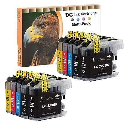 D&C 10er Set Cartuchos de tinta de impresora para Brother LC ...