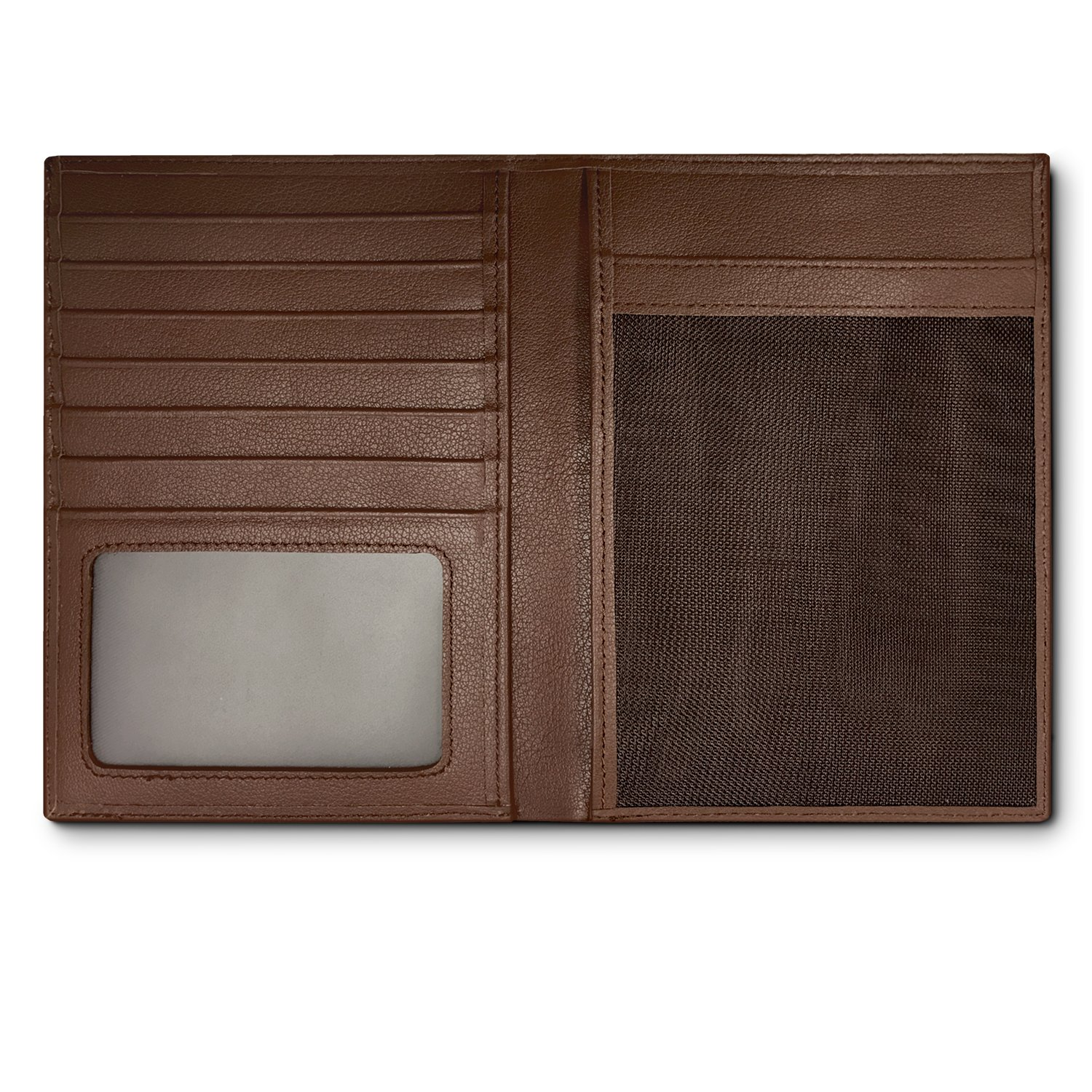 RFID Blocking Leather Passport Holder For Men and Women - Brown by Travel Navigator