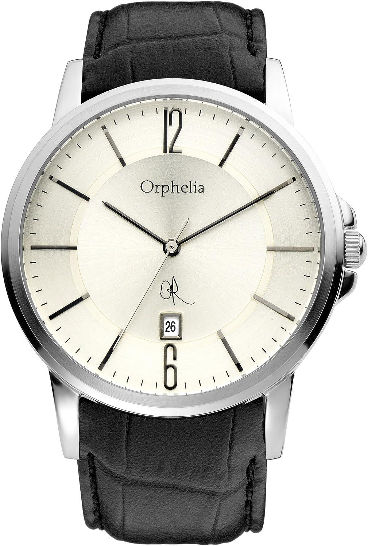 Orphelia 132-6708-84 - Reloj analógico de Cuarzo para Hombre con Correa de Piel, Color Negro