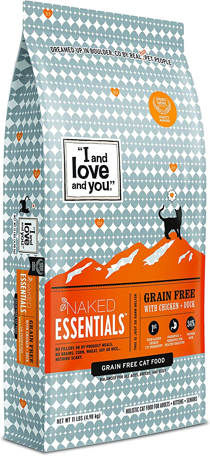 I and Love and You Naked Essentials Dry Cat Food - Natural Grain Free Kibble (Variety of Flavors)