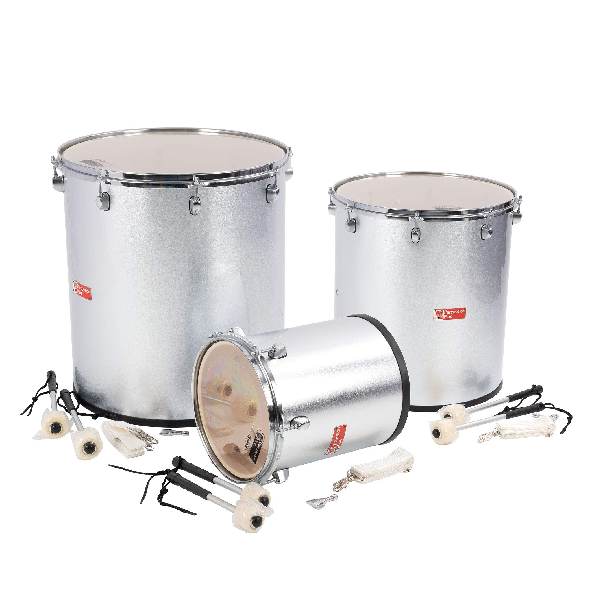 Percussion Plus PP780 Samba Drums in Silver Matt Finish (Set of 3) by Percussion Plus