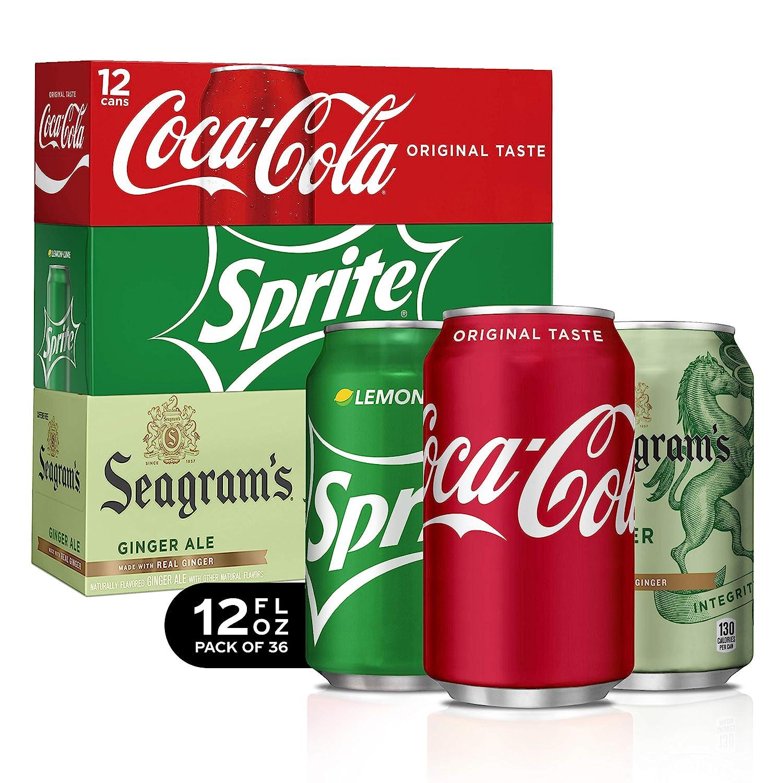 Coca-Cola Soda Soft Drink Party Pack, 12 Fl Oz