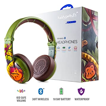 Auriculares Wireless Bluetooth para niños - BuddyPhones Wave | Verde