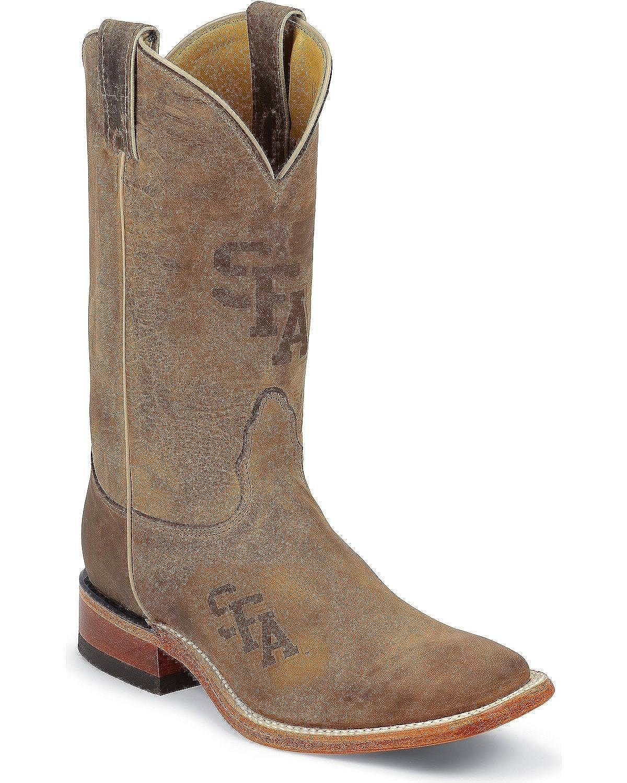 37b0ec4ec25 Nocona College Men's Stephen F. Austin University Lumberjacks Cowboy Boot  Square
