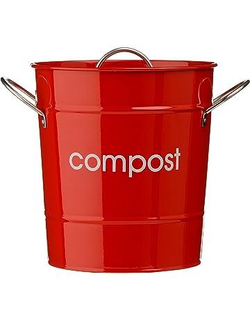 Premier Housewares - Cubo para compost, color rojo