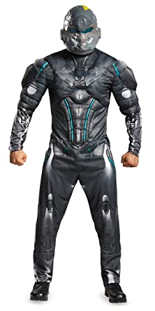 Disguise Menu0027s Halo Spartan Locke Muscle Costume Black Medium  sc 1 st  Amazon.com & Amazon.com: Disguise Menu0027s Halo Spartan Locke Muscle Costume: Clothing