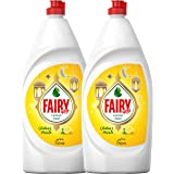 Fairy Lemon Dish Washing Liquid Soap, 750 ml, Dual Pack