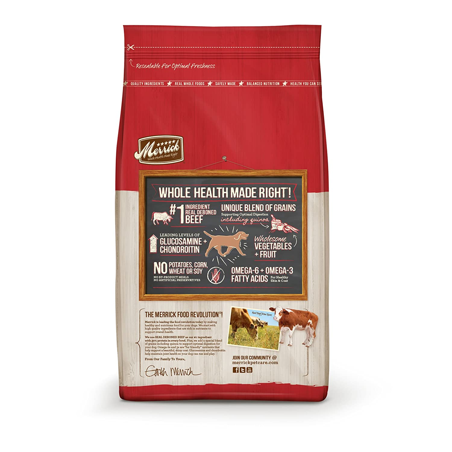 Amazon Com Merrick Dry Dog Food With Added Vitamins Minerals For