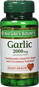 Nature's Bounty Garlic 2000mg, Tablets 120 ea (Pack of 4)