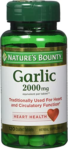 Nature s Bounty Garlic 2000mg, Tablets 120 ea Pack of 4