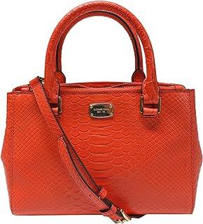 aece85663a1c Michael Kors Kellen Embossed Leather Extra Small Satchel Crossbody Mandarin