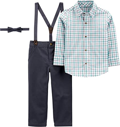 Amazon.com: Simple Joys by Carter's Boys' 3-Piece Special Occasion Bow-tie  and Suspender Pants Set: Clothing