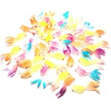 Sunflower Day Glow in the Dark Plastic Fake Goldfish Toy Set of 36 Party Supplies