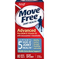 Move Free Advanced Glucosamine Chondroitin MSM Vitamin D3 and Hyaluronic Acid Joint...