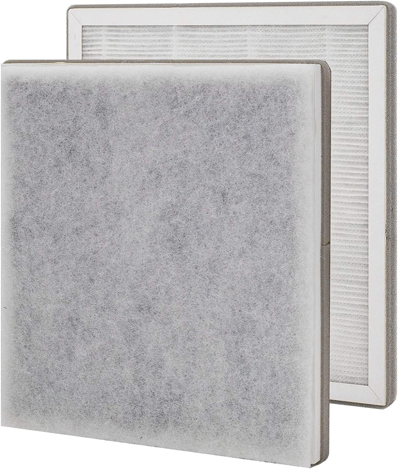 Lhari True HEPA Replacement Filter, Compatible with Pure Enrichment PureZone 3-in-1 Air Purifier, Part # PEAIRFIL, Pack of 2