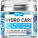 Water Gel Cream - Water Based Face Moisturizer Collagen Cream - Made in USA - Hyaluronic Acid Face Hydrating Moisturizer - Re