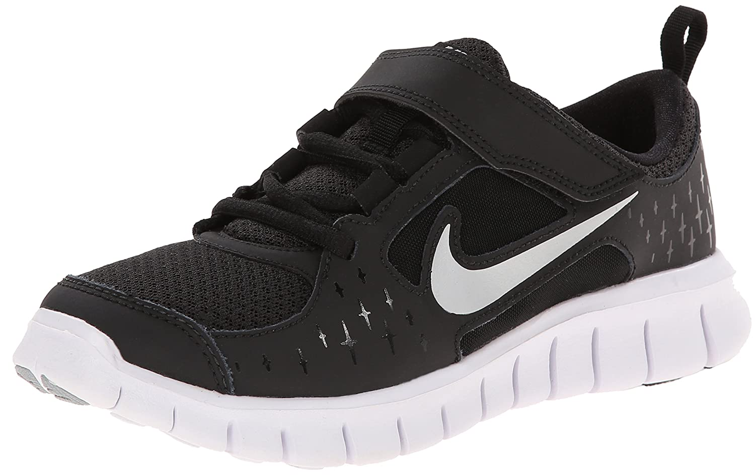 competitive price 76b69 bc7f3 Amazon.com   Nike FREE RUN 3 - Little Kids - Black White Wolf Grey Reflect  Silver (2.5)   Running