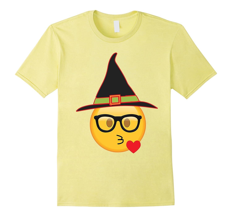 Nerd Emoji Witch Hat Halloween T-Shirt – Funny Emoji Witch-ANZ