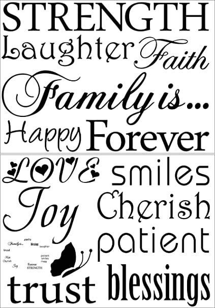 family wall decal classic set of 12 family words quote family wall Cover Letter for Warehouse Job image unavailable