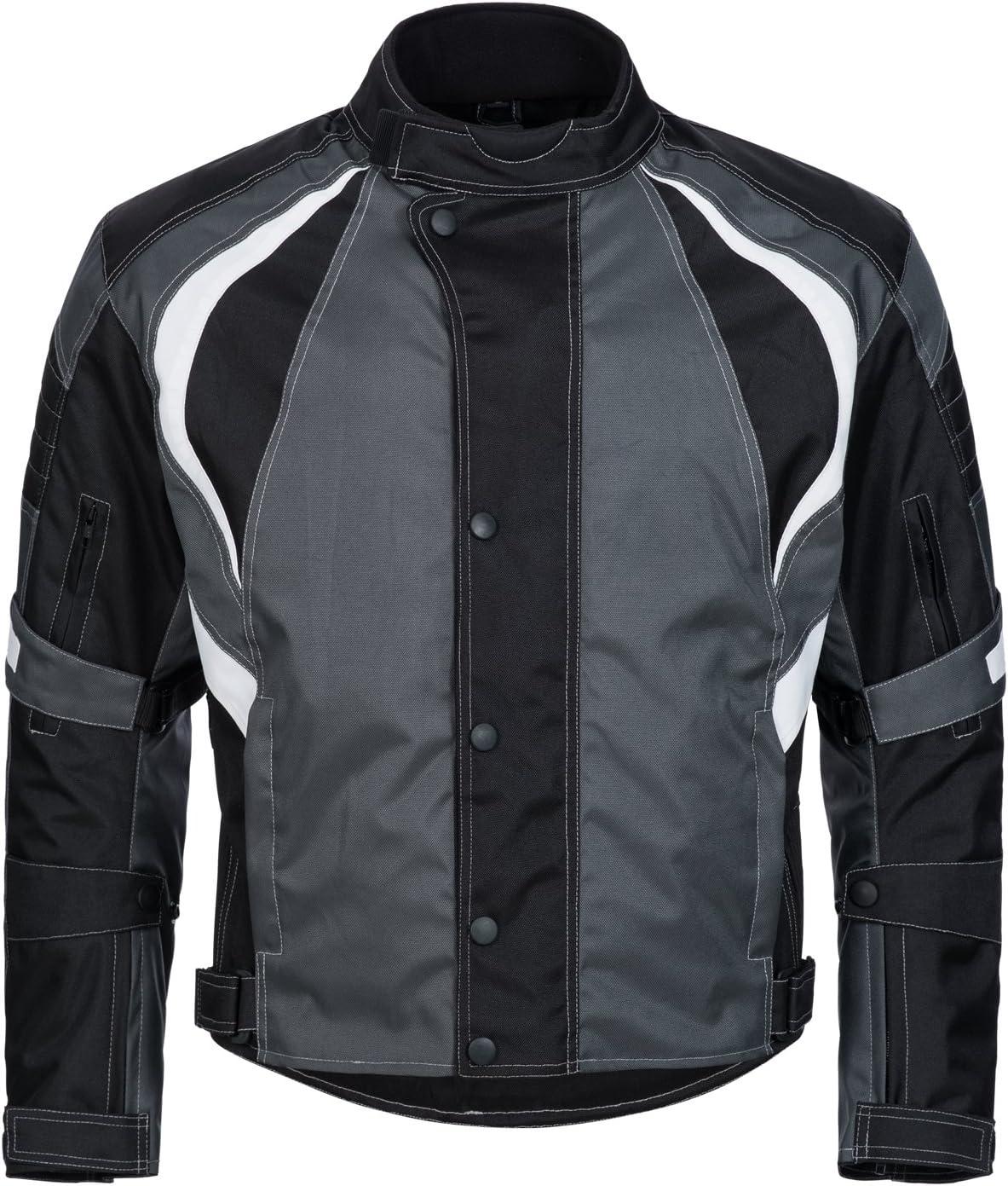 Limitless Herren Motorradjacke Mit Protektoren Textil Motorrad Jacke Aus Cordura Wasserdicht Winddicht Schwarz Grau Weiß 780 Gr 4xl Auto
