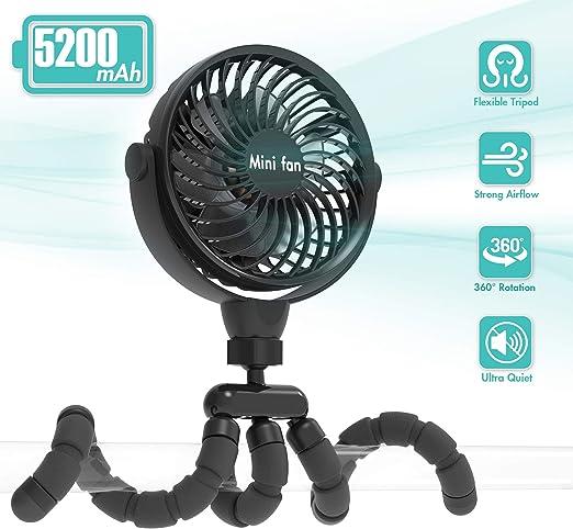 Ventilador Portátil Versátil de Escritorio Personal Batería 5200mAh ...