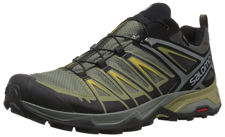 Salomon X Ultra 3 GTX, Zapatillas de Senderismo para Hombre 46 2/3 EU|Gris (Castor Gray/Beluga/Green Sulphur 000)