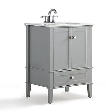 Simpli Home Hhv029gr 24 Chelsea 24 Inch Bath Vanity In Warm Grey