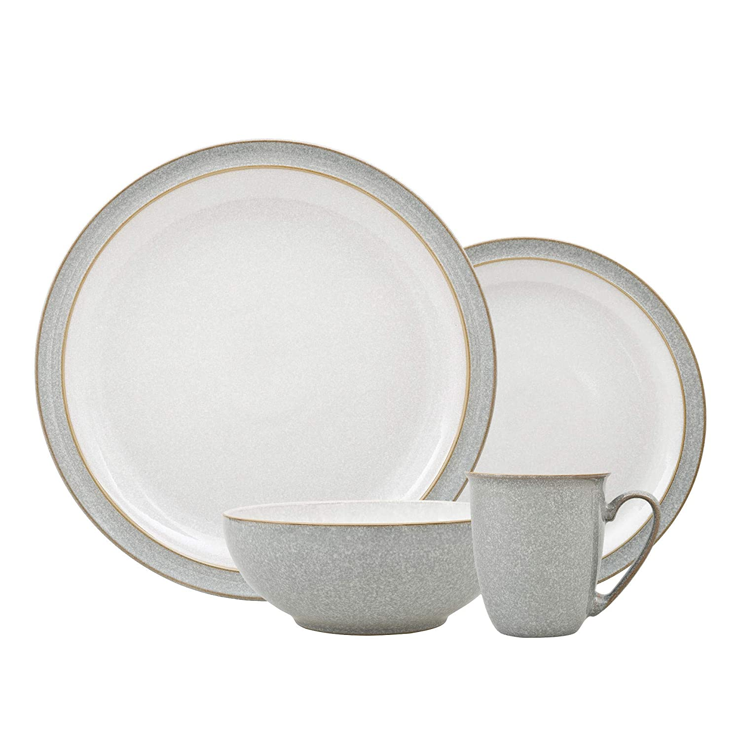 12 Piece Everyday Use Basic Dinner Set in White 27cm 10.5 Main Plates Normal Size