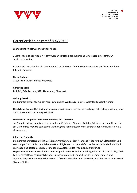 sto/ßfest und langlebig JWL Ausblaspistole Druckluft 500 mm Industriequalit/ät