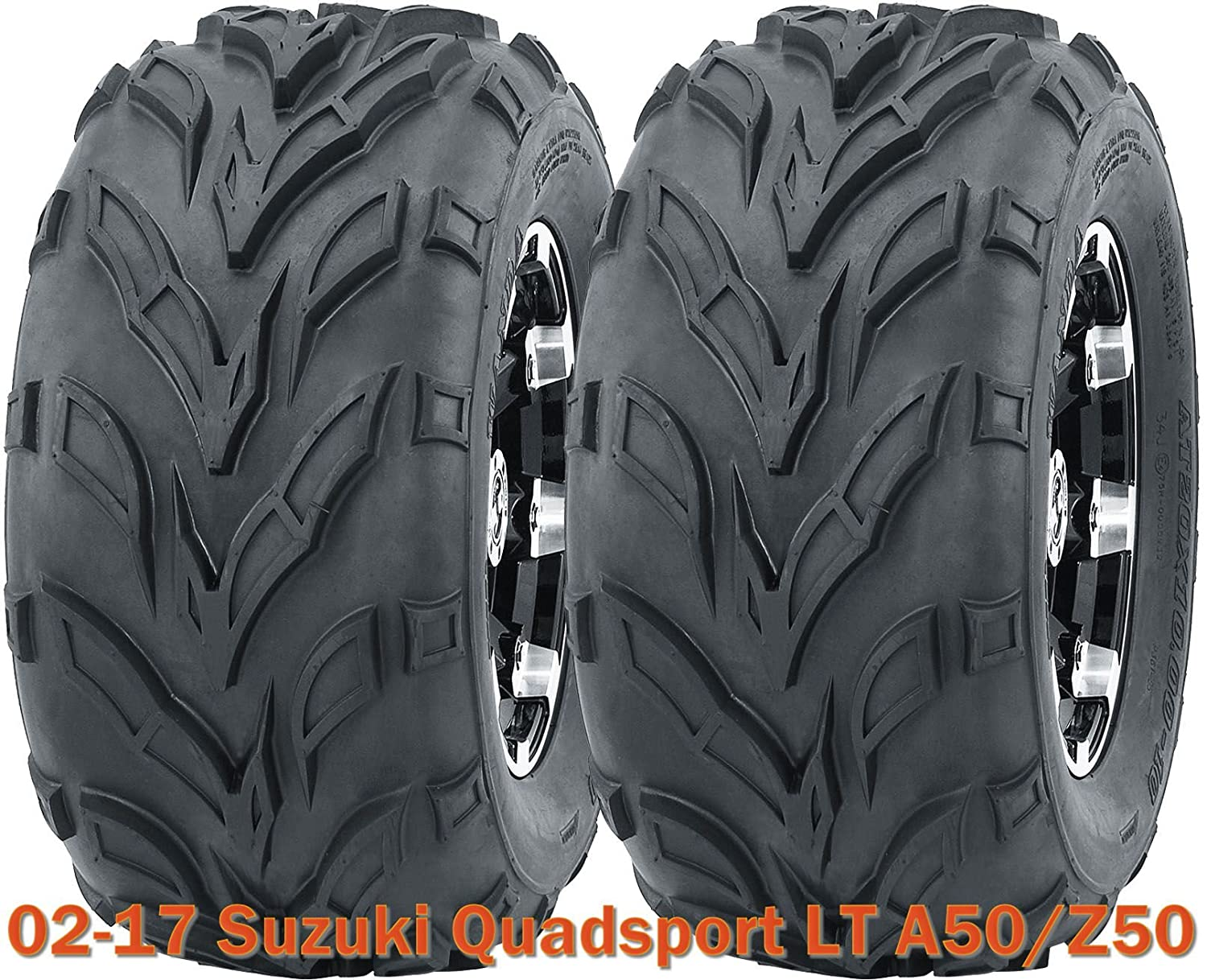(2) 16x8-7 WANDA ATV tires set for 2002-2017 Suzuki Quadsport LT A50/Z50