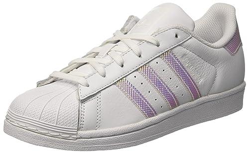 adidas Superstar W, Sneaker a Collo Basso Donna, Bianco Ftwr White, 40 EU
