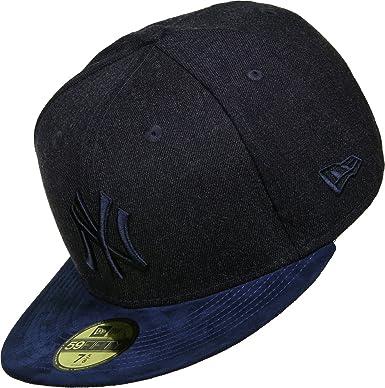 meet 36684 e94ad New Era 59FIFTY New York Yankees Baseball Cap - Heather Suede Mix - Navy 7  1 4  Amazon.co.uk  Clothing