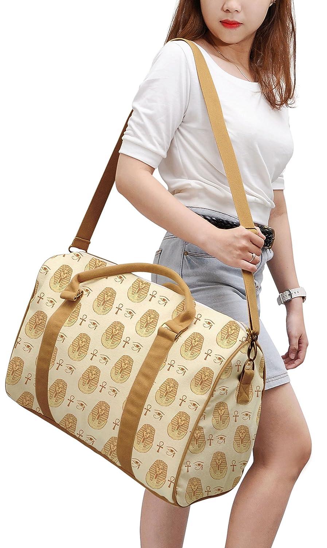 Sketch Egyptian Symbol Printed Canvas Duffle Luggage Travel Bag WAS/_42