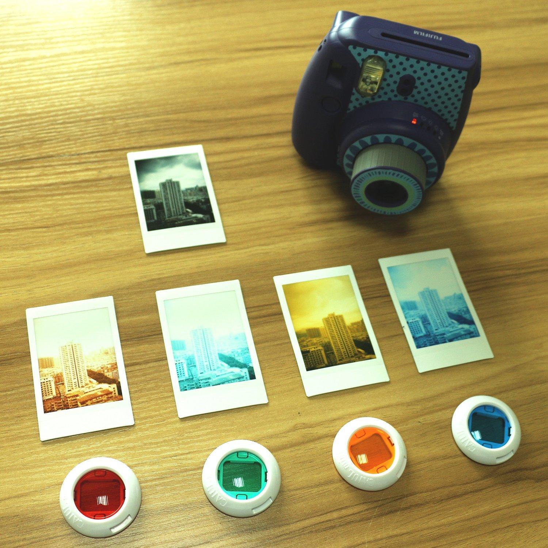 Close Up Lente Pintura Colorida Album de Fotos Marco y Otros Accesorios CAIUL Compatible with 7 in 1 Instax Mini 9 8 8+ C/ámara Accesorios Set con Funda