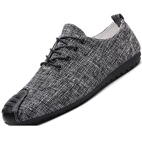 Amazon.com | Sonjer Men Casual Shoes Fashion Breathable Brand Male Shoes Light Men Flats Shoes Mens Cotton Fabric Shoes Round | Loafers & Slip-Ons