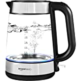 AmazonBasics Electric Glass and Steel Kettle -...