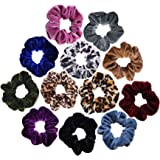 Scrunchies Velvet Elastic Scrunchie Hair Bands Bobble Hair Scrunchy Hair Ties Ponytail Holder for Girls and Women…