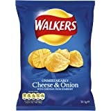Walkers Cheese and Onion Crisps 32.5 g (Pack of 48)
