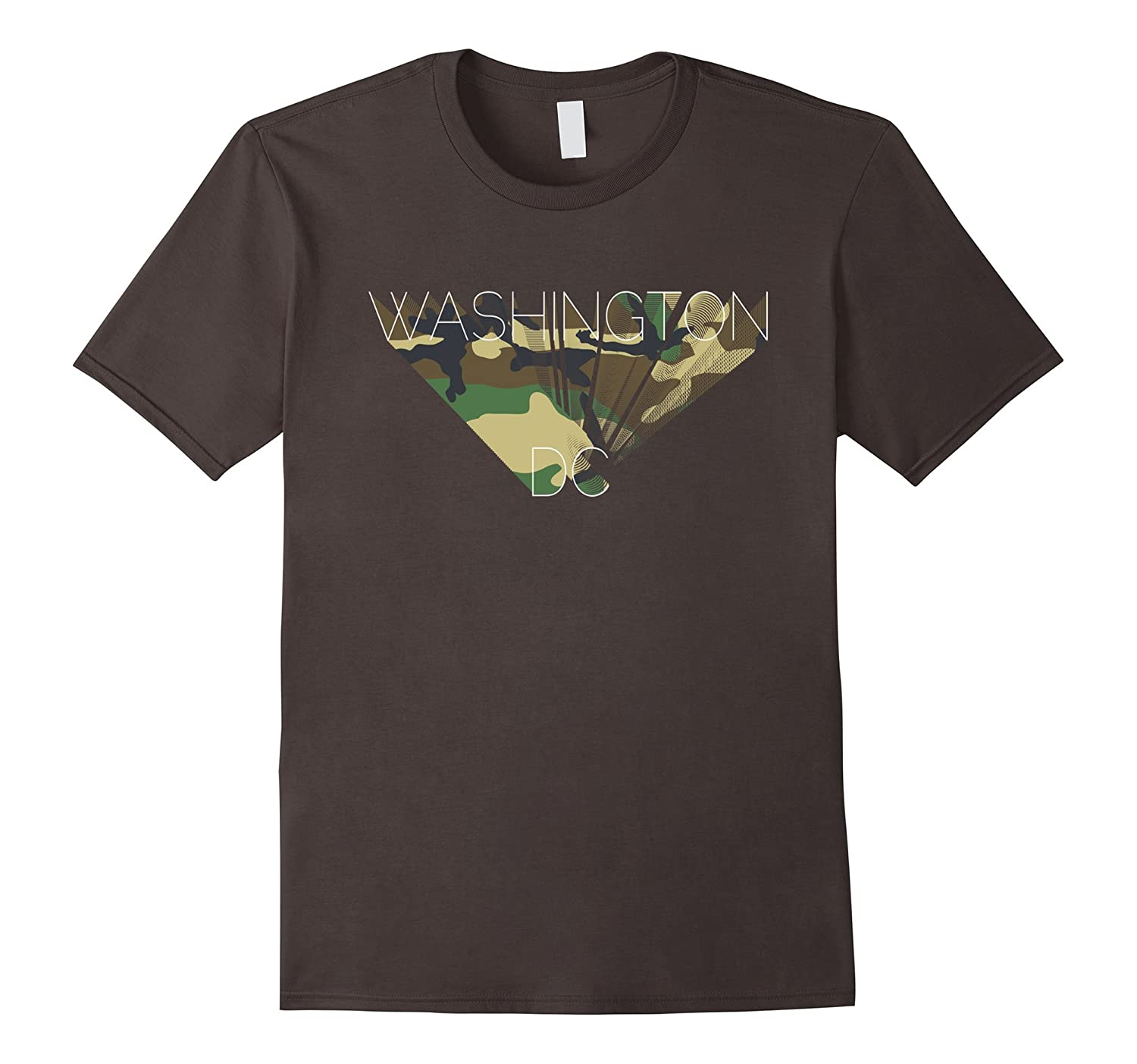 Washington DC Camouflage Graphics T-Shirt DC Camo Tee-Shirt