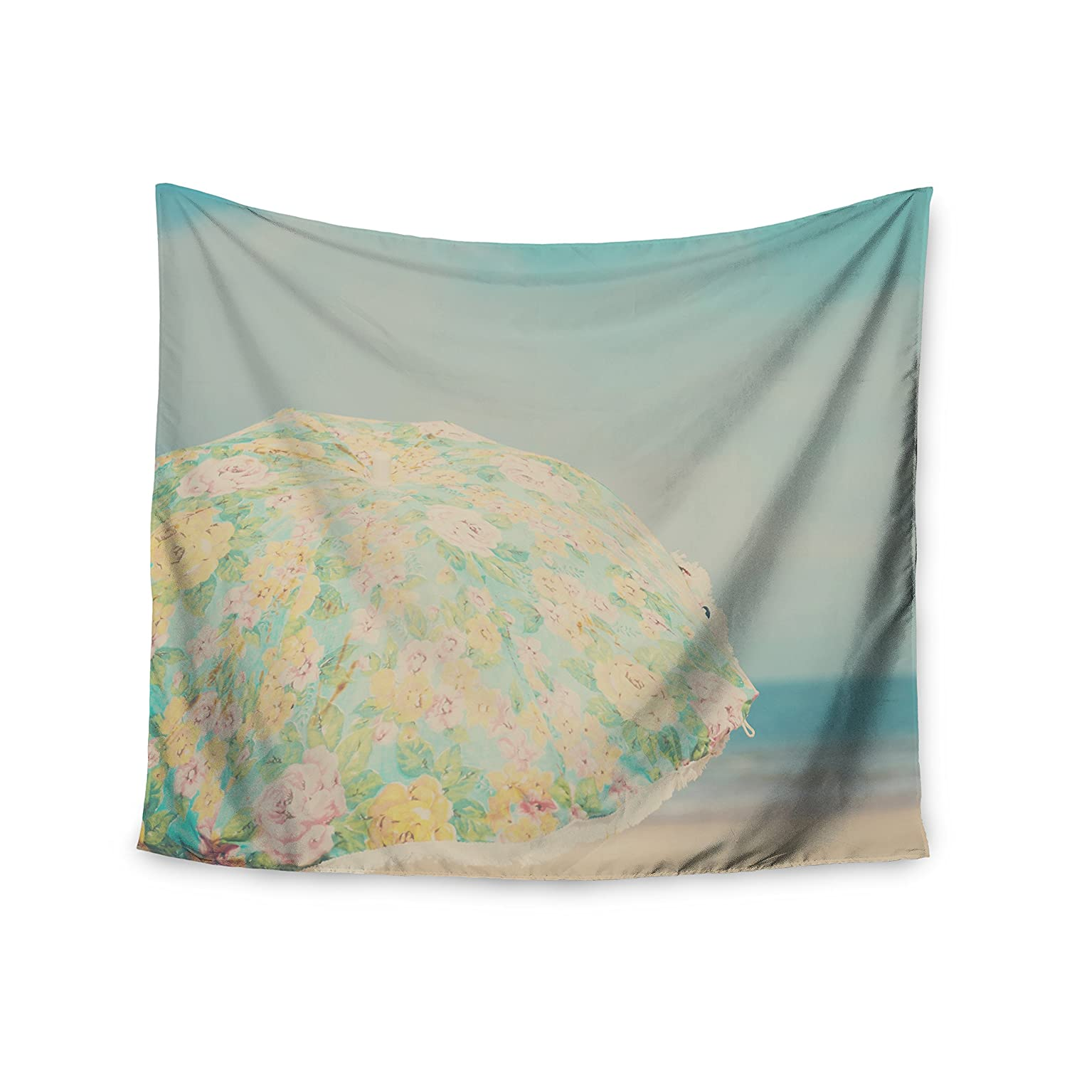 Kess InHouse Laura Evans A Summer Afternoon Blue Teal Wall Tapestry 51 X 60