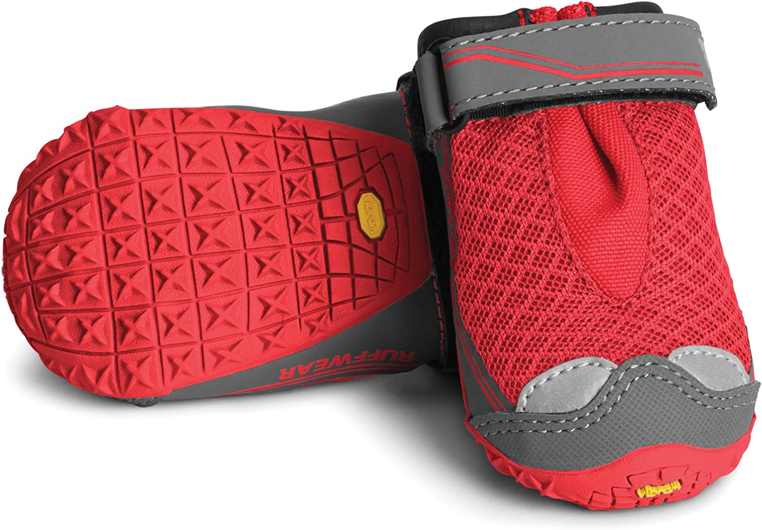 Red Currant 15202-615300 Size: 76 mm//3 in Grip Trex Large Breeds RUFFWEAR All-Terrain Dog Boots Set of 4