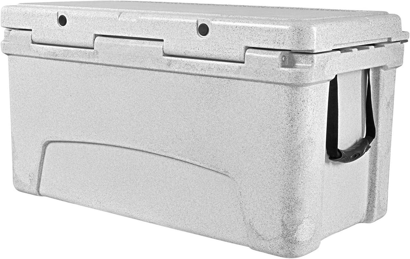 Vibe Element 75 Quart Rotomolded Hard Shell Cooler with Bottle Opener, Alpine Gray