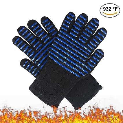 Guantes de cocina Pawaca para barbacoa, resistentes al calor, con certificación EN407, guantes
