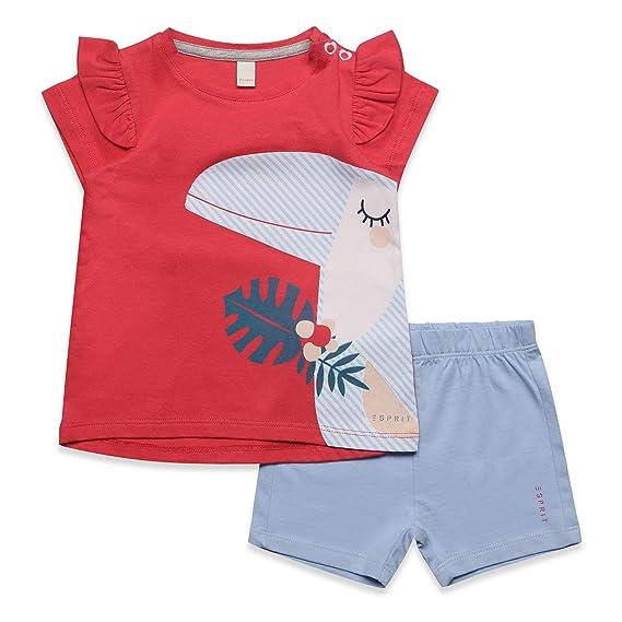 ESPRIT KIDS Baby Mädchen Set T Shirt+SHO Bekleidungsset